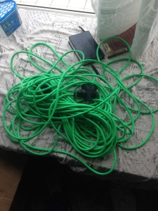 35 meters of bright green freedom.